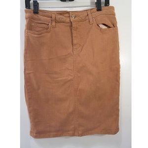 Joe's Jean Brown Jean Skirt